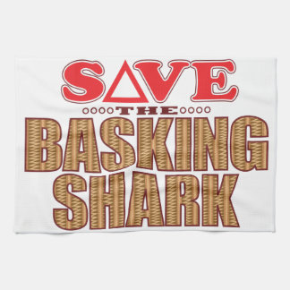 Basking Shark Save Hand Towel