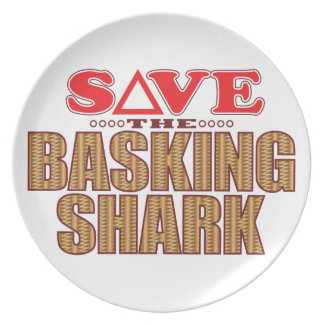 Basking Shark Save Melamine Plate