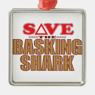 Basking Shark Save Metal Ornament