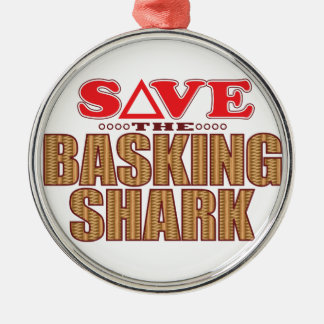 Basking Shark Save Metal Ornament