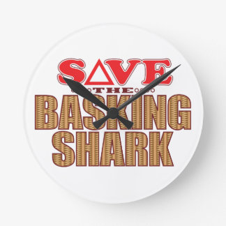 Basking Shark Save Round Clock