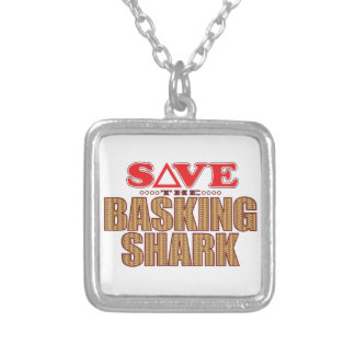 Basking Shark Save Silver Plated Necklace