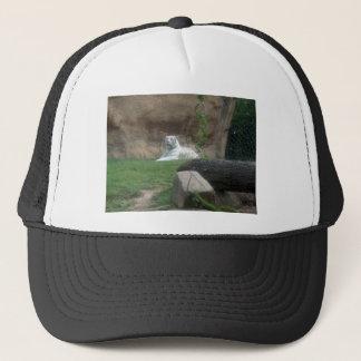 Basking White Tiger Trucker Hat