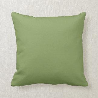 BaskingMoments verde y almohada de la polca de la
