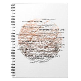 Basktetball para la vida, para siempre cuaderno