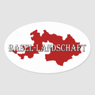 Basle-Country - Basel-Landschaft Oval Sticker