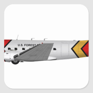 Basler Turbo-67 (DC-3 Conversion) Square Stickers
