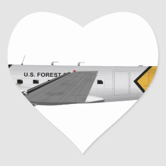 Basler Turbo-67 (DC-3 Conversion) Heart Stickers