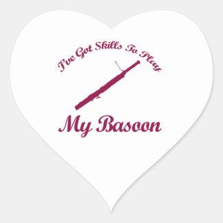 basoon musical designs heart sticker