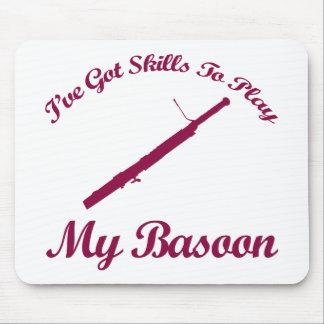 basoon musical designs mouse pad