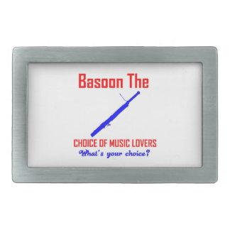 Basoon the choice of music lovers rectangular belt buckle