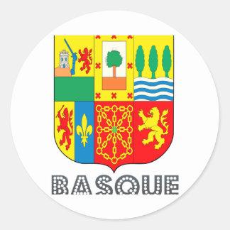 Basquan Emblem Classic Round Sticker