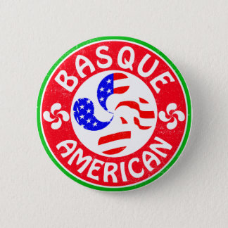 Basque American Euskara Lauburu Cross Button