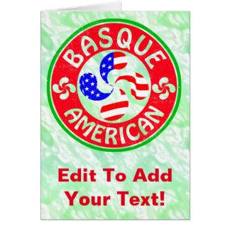 Basque American Euskara Lauburu Cross Card