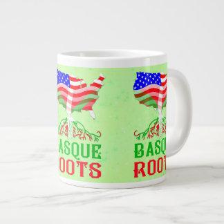 Basque American Roots Giant Coffee Mug