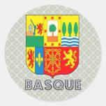 Basque Coat of Arms Classic Round Sticker