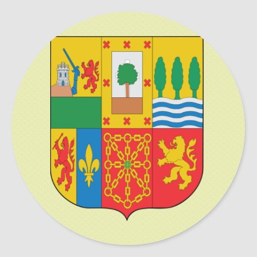 Basque Coat of Arms detail Classic Round Sticker