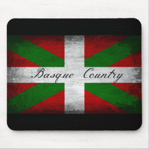 Basque Country Distressed Flag Mouse Pad