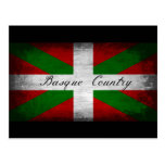 Basque Country Distressed Flag Postcard