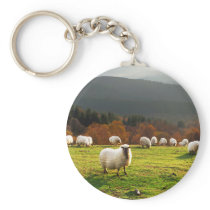 basque country typical latxa sheep keychain