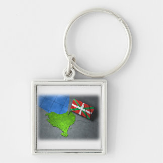 Basque country with its own flag keychain