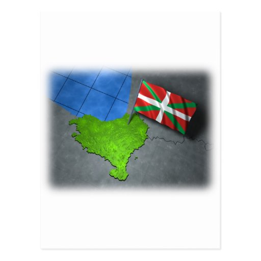 Basque country with its own flag postcard
