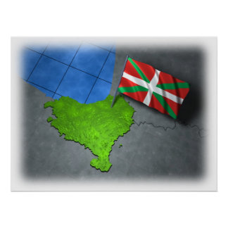 Basque country with its own flag print