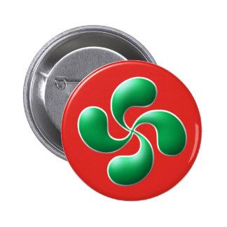 Basque cross pinback buttons