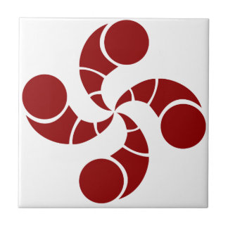 Basque cross of golf ceramic tile