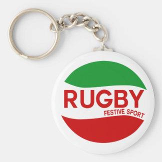 Basque festive Rugby Keychain