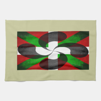 Basque Flag and Cross Kitchen Towel