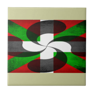 Basque Flag and Cross Tile
