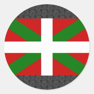 Basque Flag Classic Round Sticker