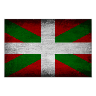 Basque Flag Distressed Poster