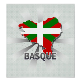Basque Flag Map 2.0 Posters