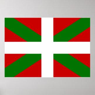 Basque Flag Poster