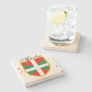 Basque Flag Stone Coaster