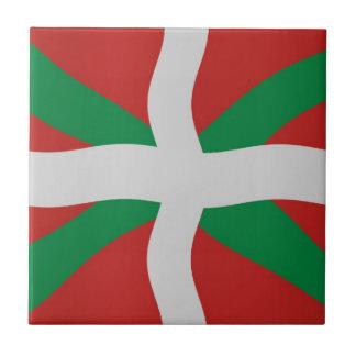 Basque flag tile