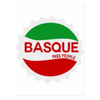 Basque free people postcard