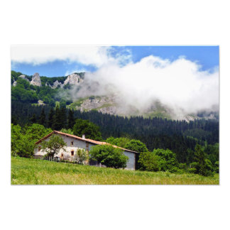 basque house in Aramaio Photo Print