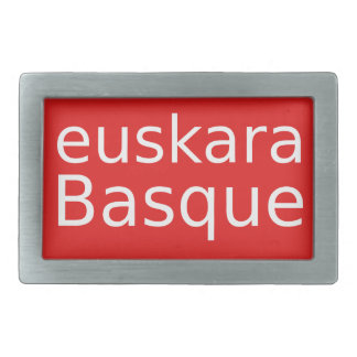 Basque Language Design Rectangular Belt Buckle