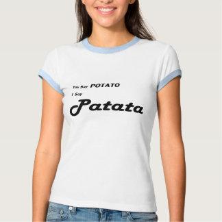 "Basque Patata ""You Say Potato"" saying Tee Shirt"