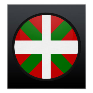 Basque quality Flag Circle Poster