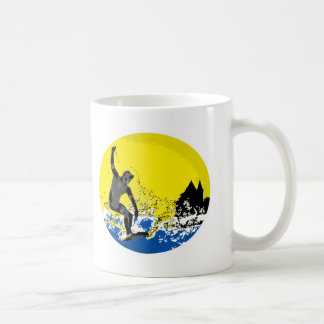 Basque surfer of Biarritz in action Coffee Mug