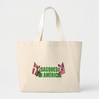 Basques in America, Large Tote Bag