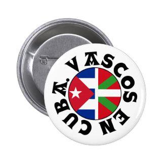 Basques in Cuba logo, 2 Inch Round Button