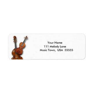 Bass and Violin Return Address Label