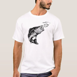Bass attacking spinnerbait T-Shirt