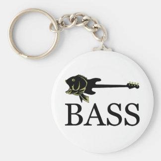 BASS? BASIC ROUND BUTTON KEYCHAIN