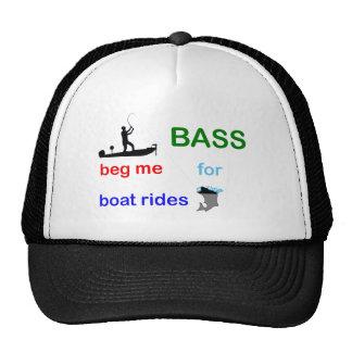 bass begging trucker hat